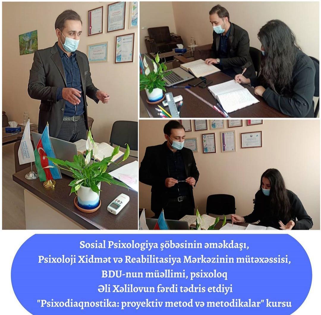 """""""Psixodiaqnostika: proyektiv metod və metodikalar"""" kursu."""